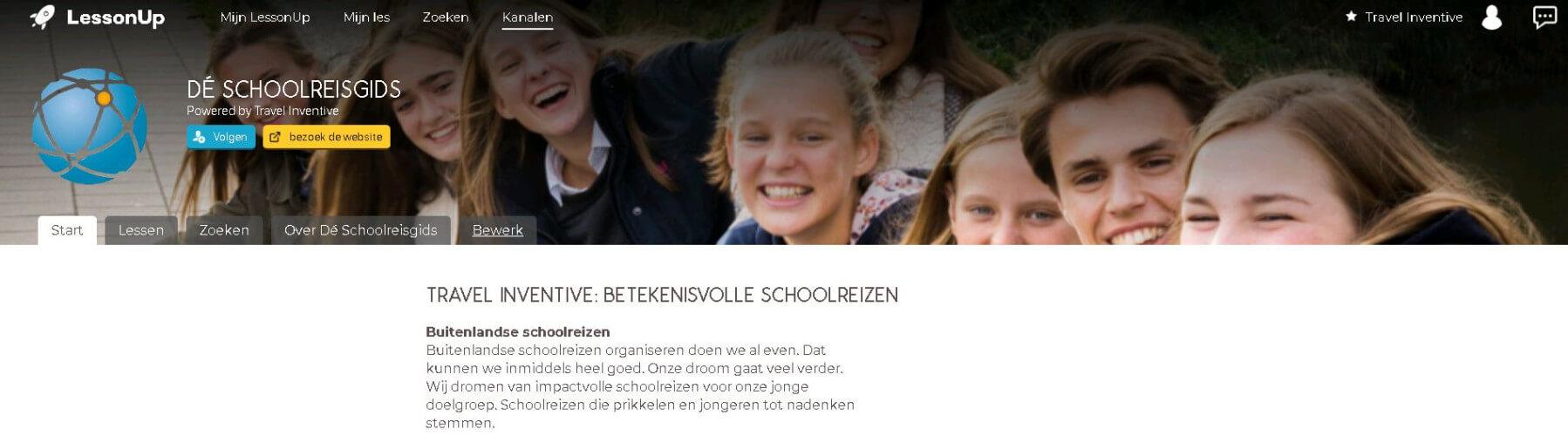 Interactieve schoolreisgids: een kanaal voor digitale buitenlandse schoolreis lessen