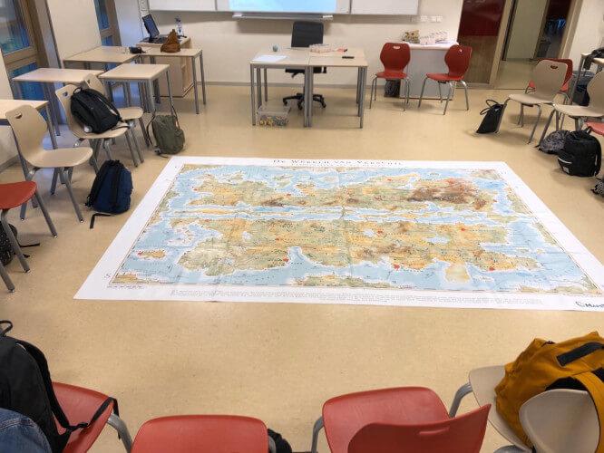 Landkaart Wereld van verschil