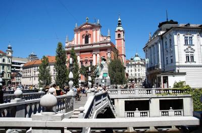 kerk Frančiškanska cerkev in Ljubljana