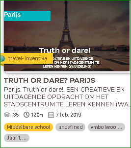 Truth or dear opdracht in Schoolreis Kanaal