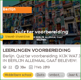 Lesson Up voorbereidings quiz